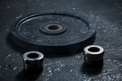 Black weight for the rod Royalty Free Stock Photo