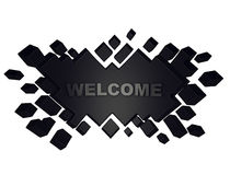 Black welcome geometric background from cubes. 3d render. Ing Royalty Free Stock Photo