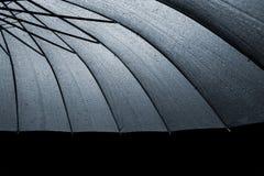 Black wet umbrella Royalty Free Stock Photo