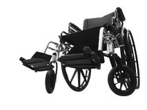 Black Wheel Chair Stock Photo
