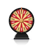 Black wheel of fortune 3d object isolated on white. Wheel of fortune 3d object isolated on white Stock Photo