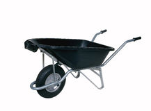 Black wheelbarrow Royalty Free Stock Photography