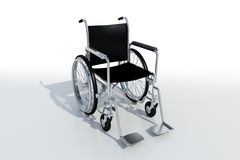 Black wheelchair Stock Photography