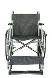 Black wheelchair for handicapped persons on white background Royalty Free Stock Images