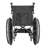 Black wheelchair on white background Royalty Free Stock Photo