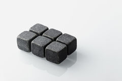 Black whiskey stones set of 6. Royalty Free Stock Images