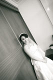 Black and white�Smiling bride Stock Photo
