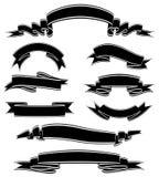 Black&White横幅 免版税图库摄影