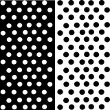 Black and white. A simple dotted of black and white illustrations Stock Photos