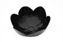 Black and white. Black fruit bowl made of ceramic Royalty Free Stock Photos