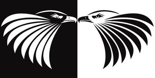 Black & white. Eagle symbol isolated on black & white for design - also as emblem or logo Royalty Free Stock Images