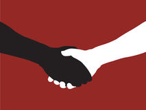 Black and White. Shaking hands - available in vector format stock illustration
