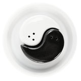 Black and White. Graphic symbol of Yin and Yang, on a white background Royalty Free Stock Photos