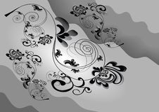 Black-white abstract Stock Images