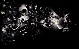 Black and white abstract  Royalty Free Stock Photography