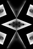 Black and White Abstract Stock Photo