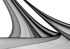 Black & White abstract background. Black & White 3D rendered abstract background Stock Images