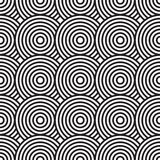 Black-and-white abstract background with circles. Seamless pattern. Vector illustration Royalty Free Stock Image