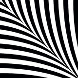 Black and white abstract background with curves symmetrical stripes. Black and white abstract background with curves symmetrical stripes vector illustration