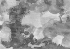 Black and white abstract background of gouache paint. Abstract background, hand-painted gouache, paint strokes. Design for backgrounds, wallpapers, covers royalty free illustration