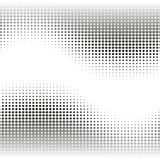 Black and white abstract background with halftone effect waves Stock Image