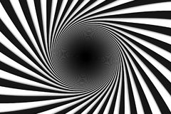 Black and white abstract background lines black hole. 3d illustration Royalty Free Stock Photos