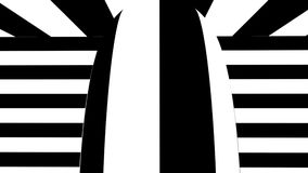 Black and white abstract background. Seamless loop stock video