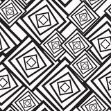 Black-and-white abstract background with squares vector illustration