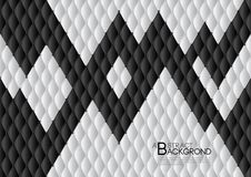 Black and white abstract background vector illustration, cover template layout, business flyer, Leather texture luxury. Can be used in annual report cover Stock Photo