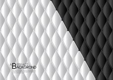 Black and white abstract background vector illustration, cover template layout, business flyer, Leather texture luxury. Can be used in annual report cover Royalty Free Stock Photos