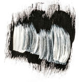 Black and white abstract brush strokes acrylic paint.  Stock Photos