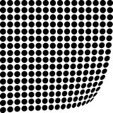 Abstract circle pattern in black and white. A black and white abstract circle pattern with a perspective effect Stock Photography