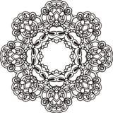 Black and white abstract circular pattern mandala. Stock Images