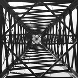 Black and white abstract composition Stock Photos