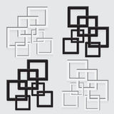 black and white abstract decoration eps10 Stock Photo