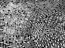 Black and white abstract design. Rectangles and squares background in black and white color stock illustration