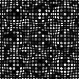 Black and white abstract dotted seamless pattern. Texture with spheres, billowy dots for your designs. Vector illustration Stock Photos