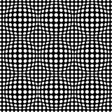 Black and white abstract dotted seamless pattern. Texture with spheres, billowy dots for your designs. Royalty Free Stock Photography