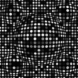 Black and white abstract dotted seamless pattern. Texture with spheres, billowy dots for your designs. Royalty Free Stock Images