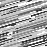 Black and white abstract dynamic striped seamless pattern, vector. Background Stock Images