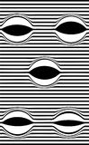 Black and white abstract geometric circles seamless pattern, vector royalty free stock photography
