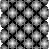 Black and white abstract geometric circles seamless pattern, vector Stock Image