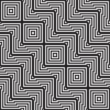 Black and white abstract geometric pattern. Optical illusion. Stock Photos