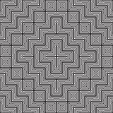 Black and white abstract geometric pattern. Optical illusion. Stock Photography