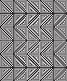 Black and white abstract geometric pattern. Optical illusion. Royalty Free Stock Images