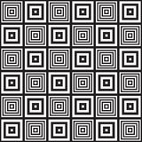 Black and white abstract geometric pattern. Optical illusion. Stock Image