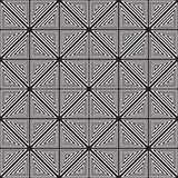 Black and white abstract geometric pattern. Optical illusion. Royalty Free Stock Photo