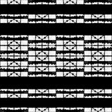 Black and White Abstract Geometric Pattern Royalty Free Stock Photography