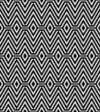 Black and White Abstract Geometric Pattern Stock Image