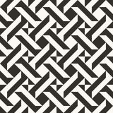 Black and white abstract geometric quilt pattern. Simple minimal graphic backgorund. stock illustration